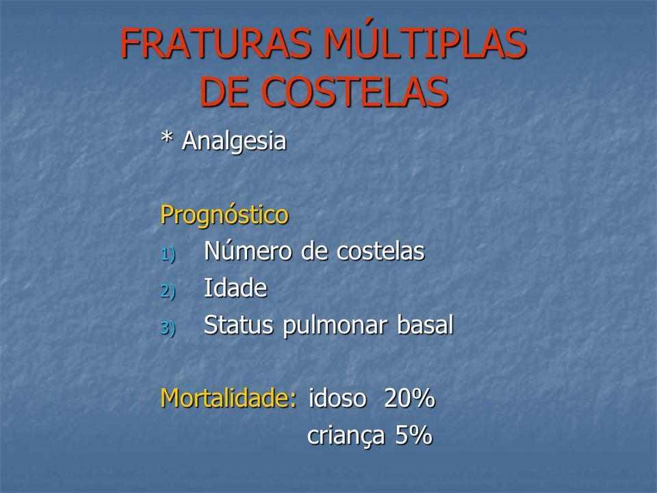 FRATURAS MÚLTIPLAS DE COSTELAS