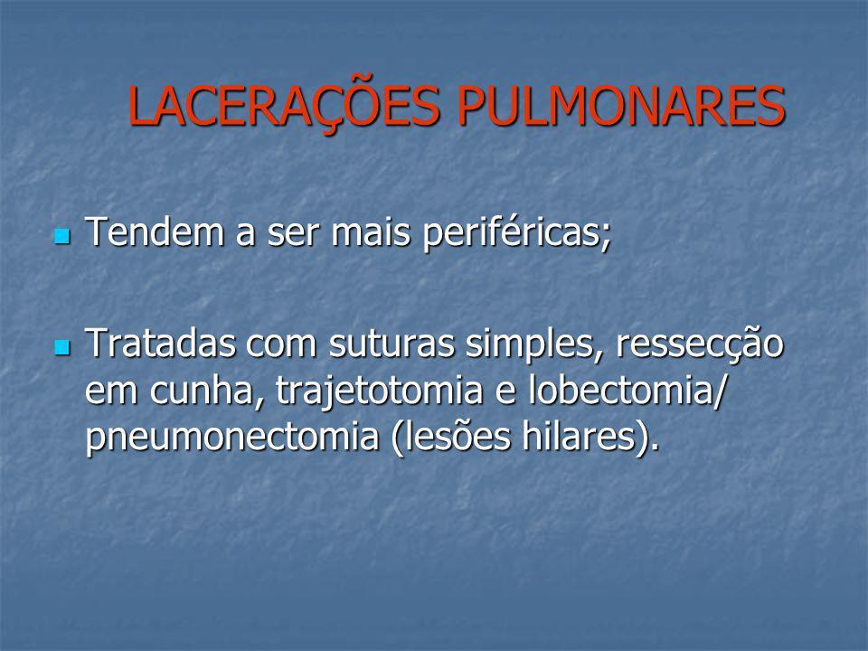 LACERAÇÕES PULMONARES