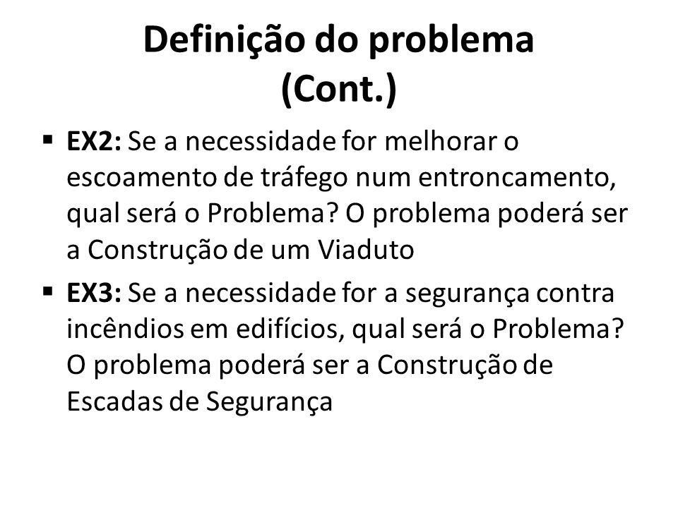 Definição do problema (Cont.)