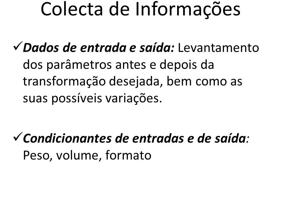 Colecta de Informações