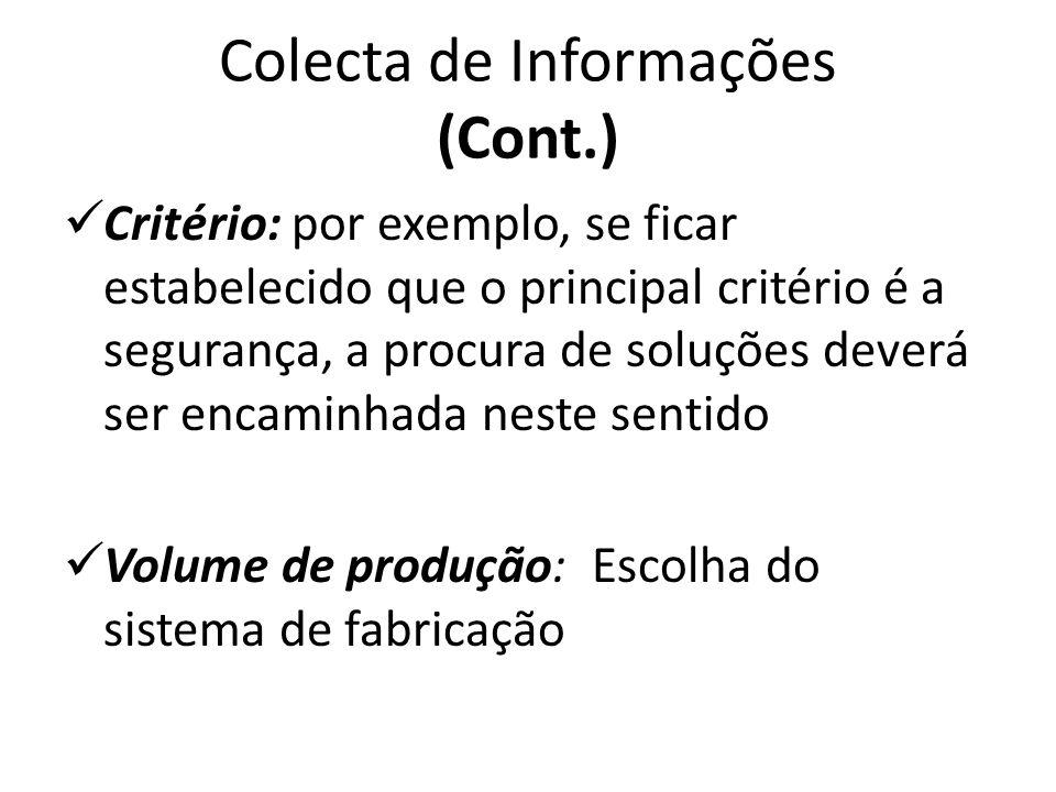 Colecta de Informações (Cont.)