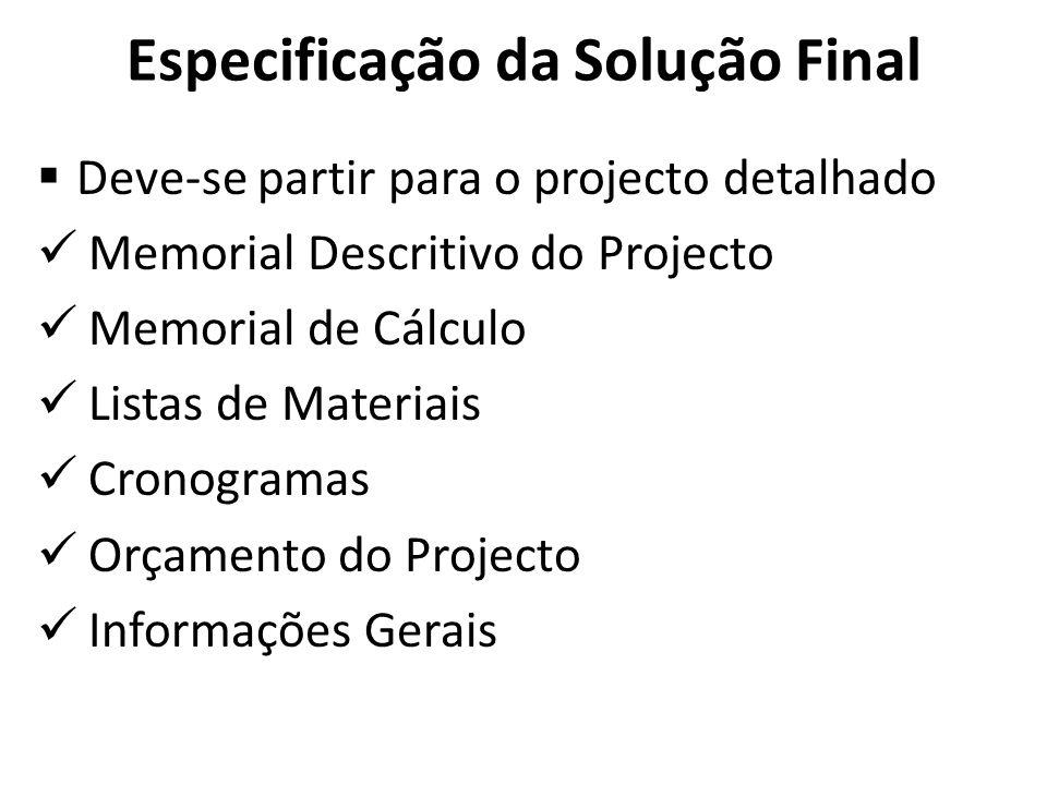 Especificação da Solução Final