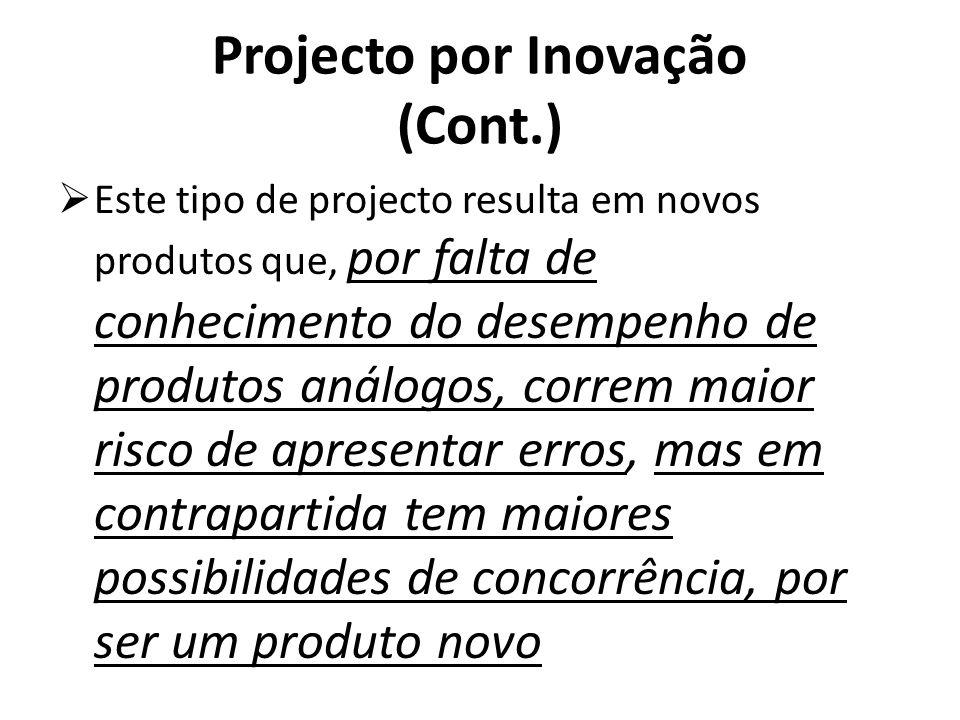 Projecto por Inovação (Cont.)