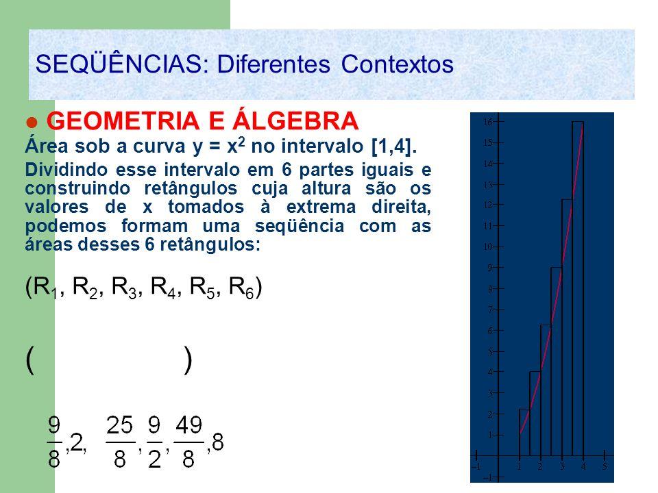 ( ) SEQÜÊNCIAS: Diferentes Contextos GEOMETRIA E ÁLGEBRA