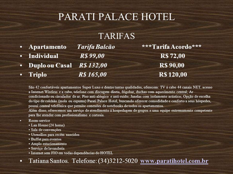 PARATI PALACE HOTEL TARIFAS