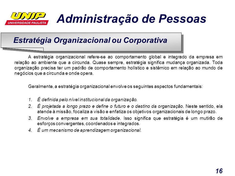 Estratégia Organizacional ou Corporativa