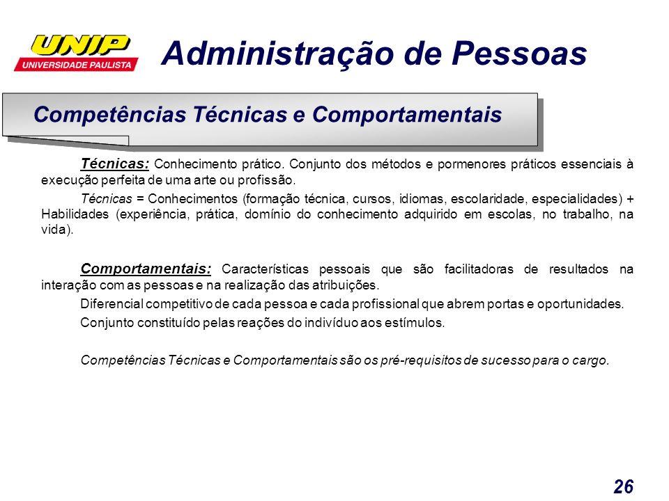 Competências Técnicas e Comportamentais