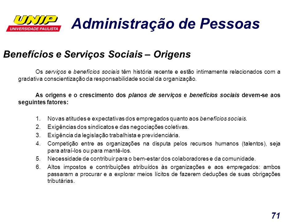 Benefícios e Serviços Sociais – Origens