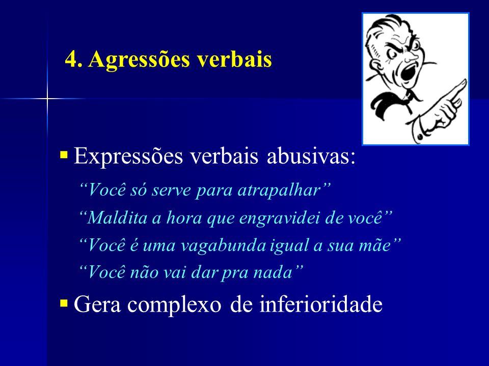 Expressões verbais abusivas: