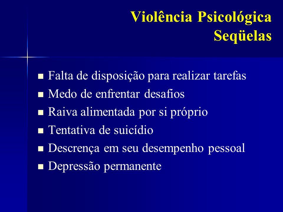 Violência Psicológica Seqüelas