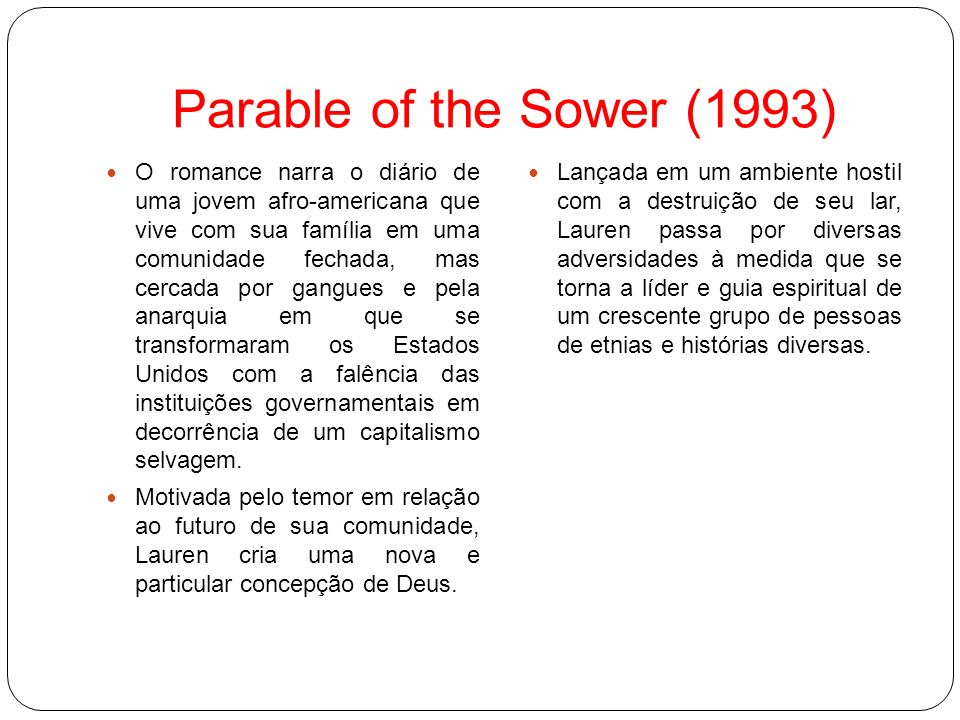 Parable of the Sower (1993)