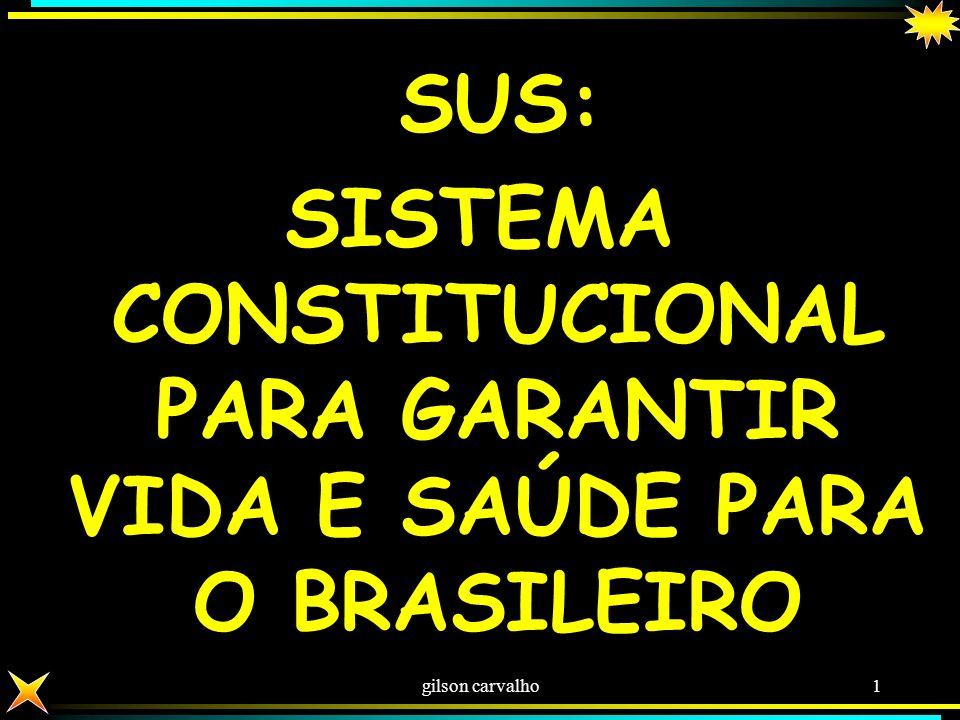SISTEMA CONSTITUCIONAL PARA GARANTIR VIDA E SAÚDE PARA O BRASILEIRO