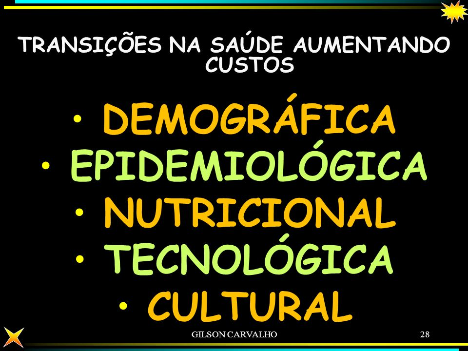 TRANSIÇÕES NA SAÚDE AUMENTANDO CUSTOS