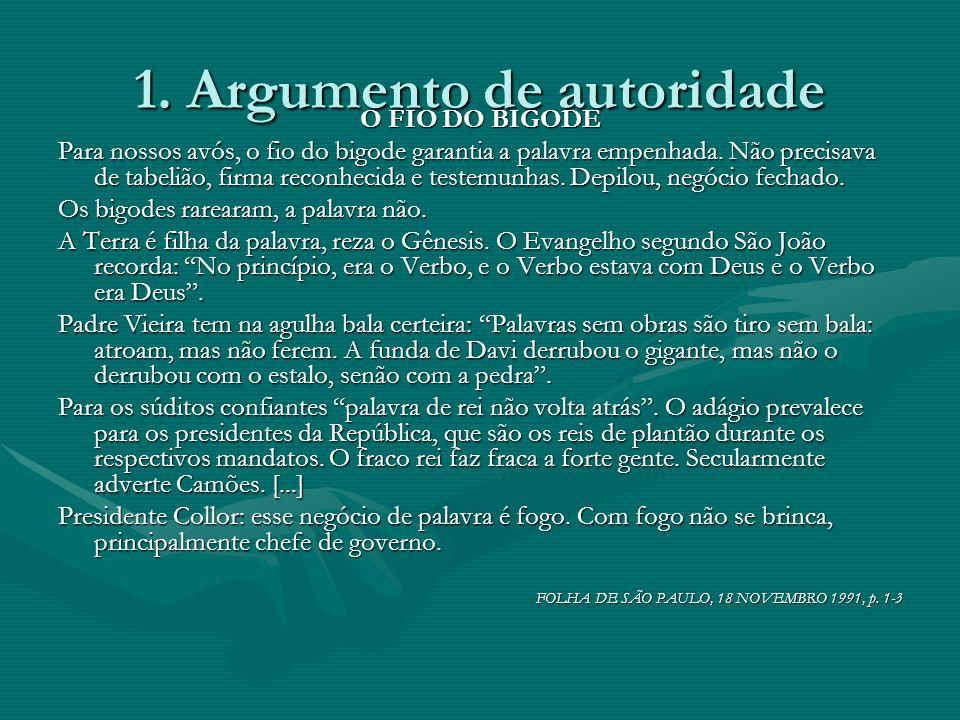 1. Argumento de autoridade