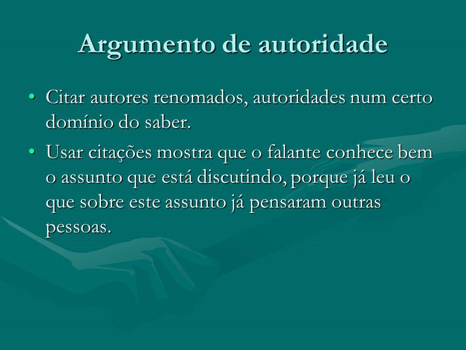 Argumento de autoridade