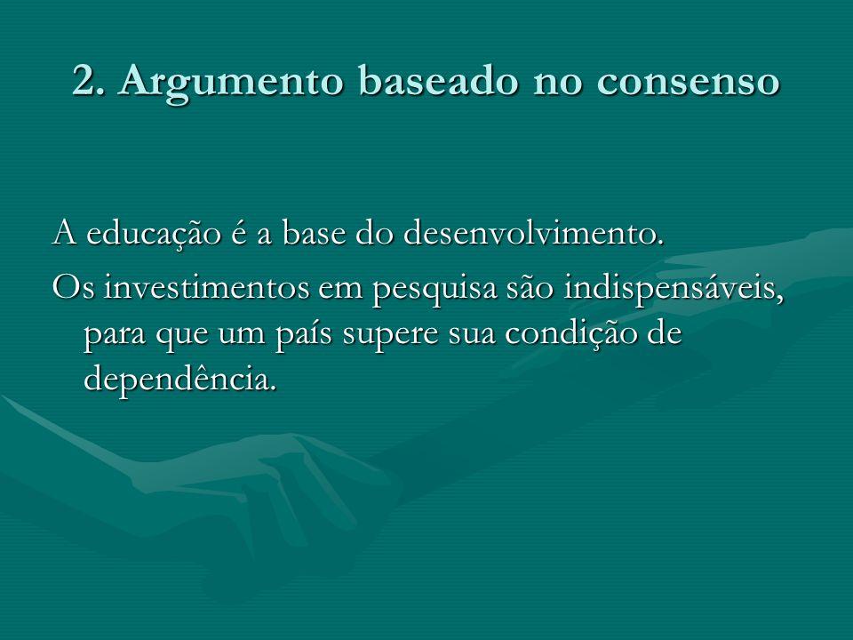 2. Argumento baseado no consenso