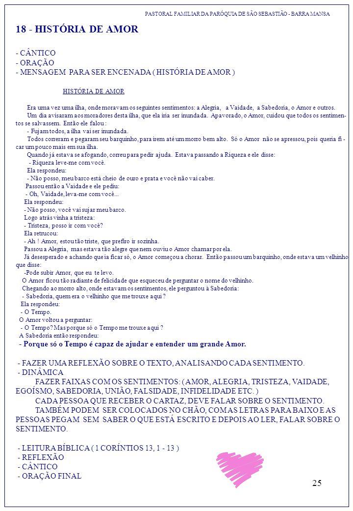 18 - HISTÓRIA DE AMOR - CÂNTICO