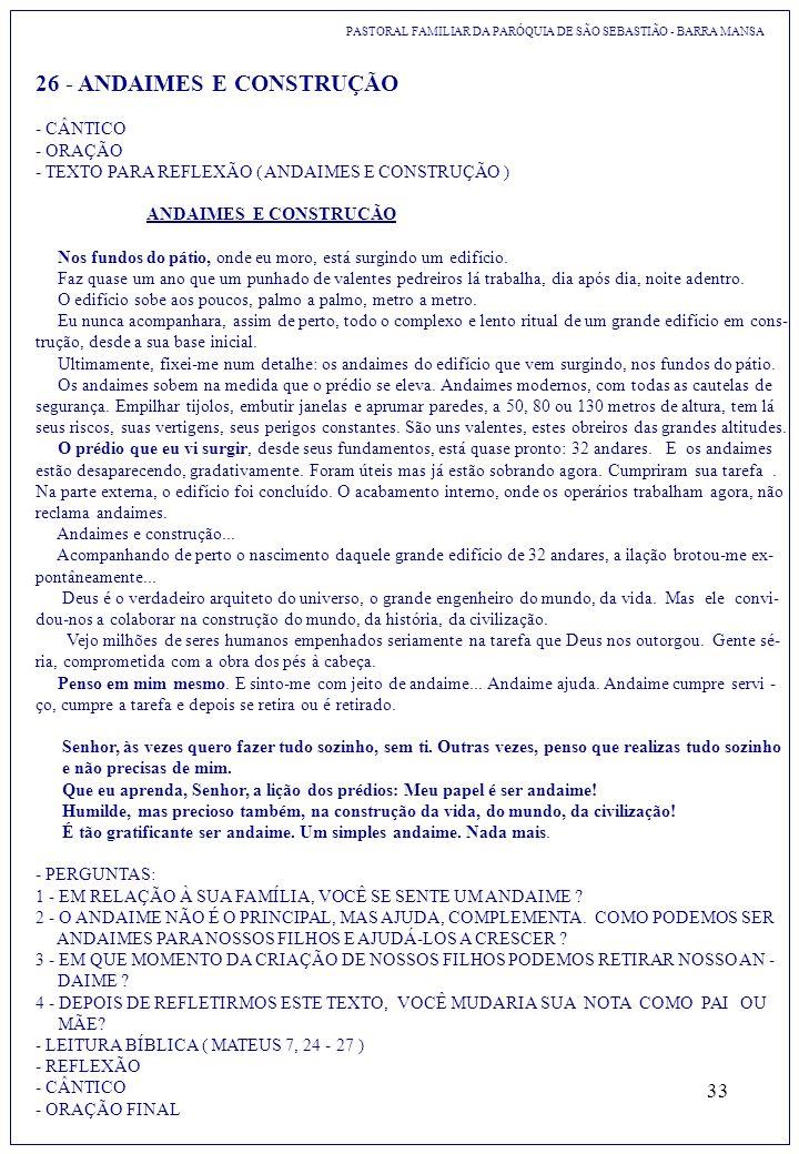 26 - ANDAIMES E CONSTRUÇÃO