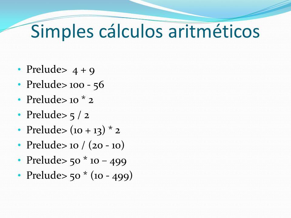 Simples cálculos aritméticos