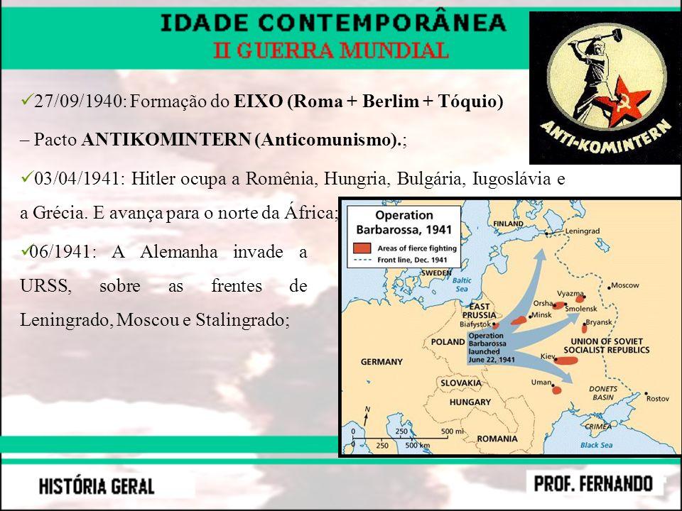 27/09/1940: Formação do EIXO (Roma + Berlim + Tóquio)