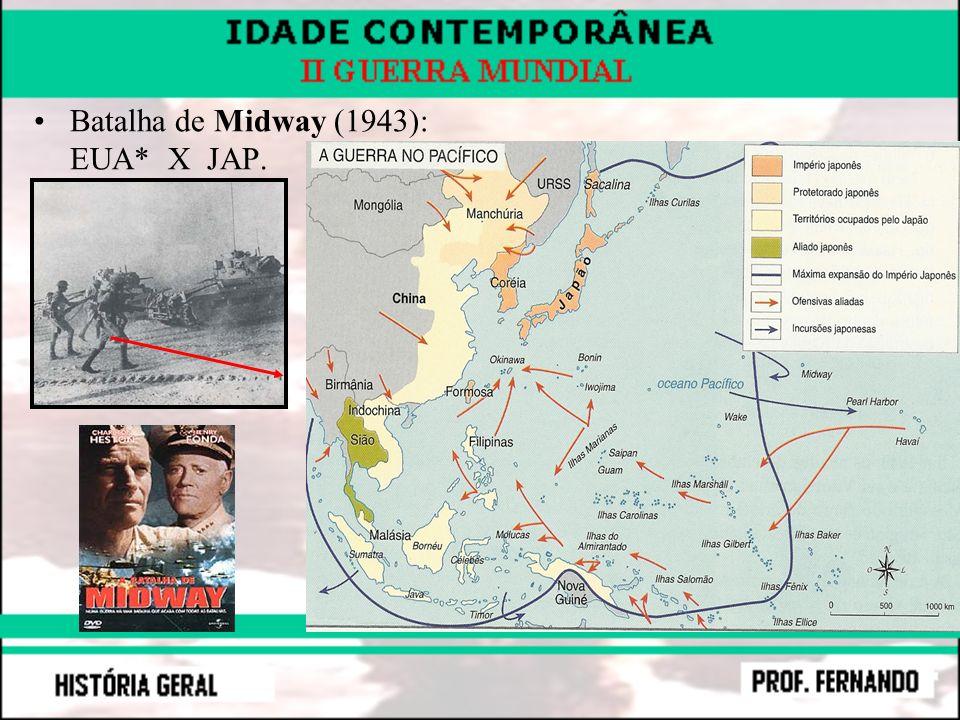 Batalha de Midway (1943): EUA* X JAP.