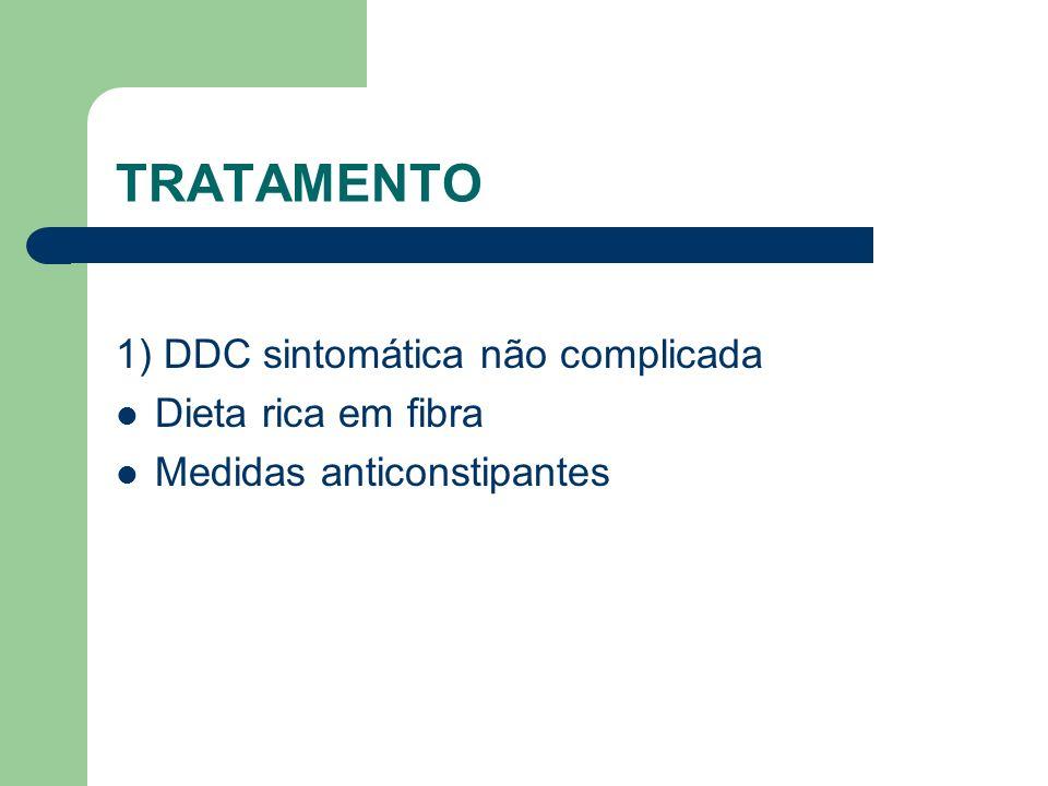 TRATAMENTO 1) DDC sintomática não complicada Dieta rica em fibra