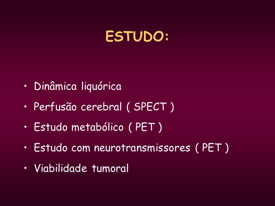 ESTUDO: Dinâmica liquórica Perfusão cerebral ( SPECT )