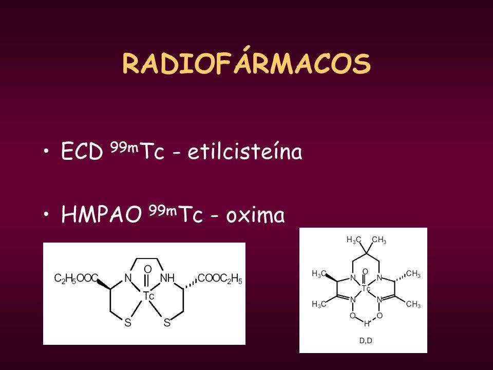 RADIOFÁRMACOS ECD 99mTc - etilcisteína HMPAO 99mTc - oxima