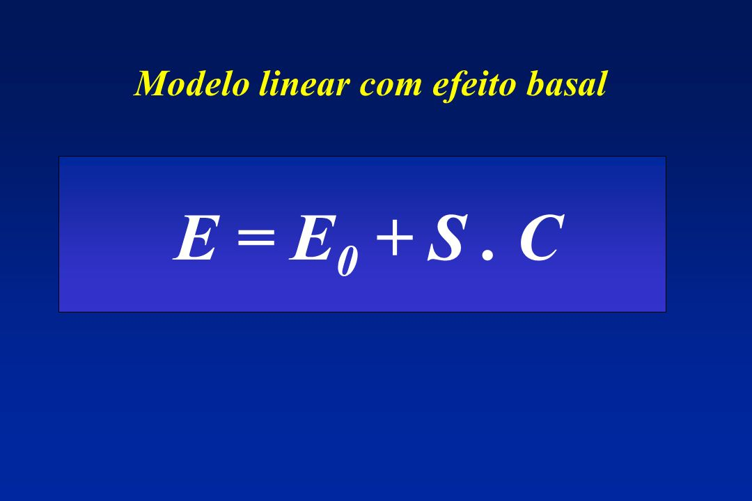 Modelo linear com efeito basal