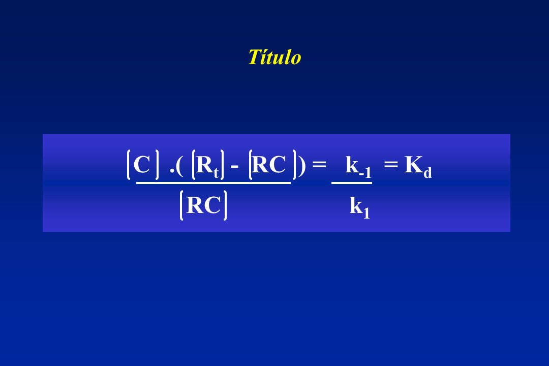 Título C .( Rt - RC ) = k-1 = Kd RC k1