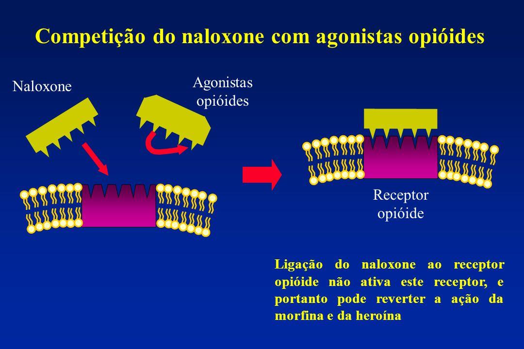 Competição do naloxone com agonistas opióides