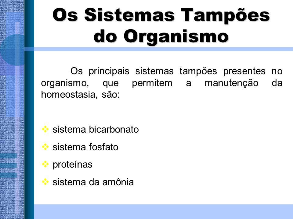 Os Sistemas Tampões do Organismo