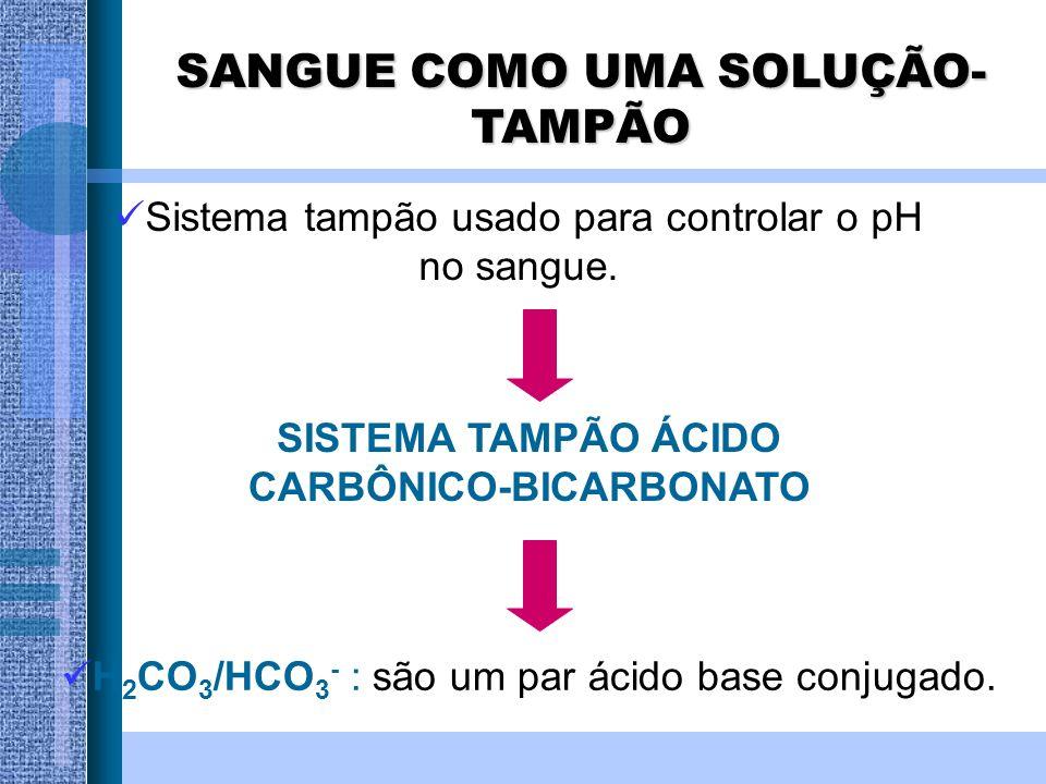 SISTEMA TAMPÃO ÁCIDO CARBÔNICO-BICARBONATO