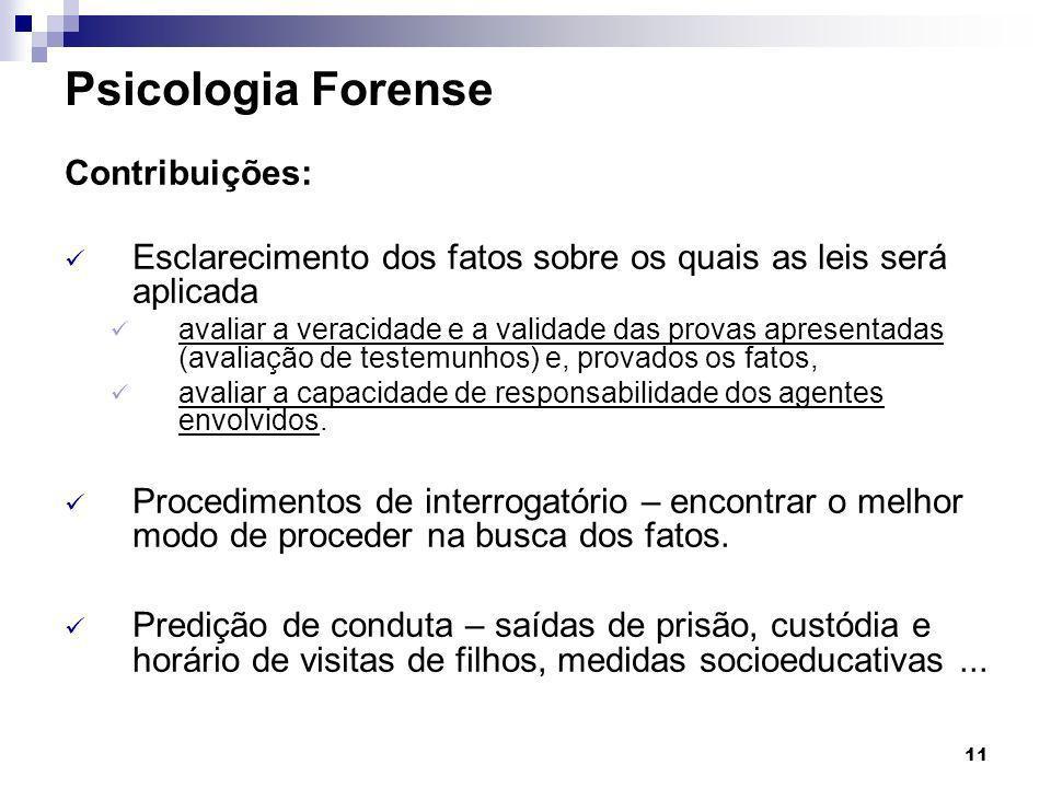 Psicologia Forense Contribuições: