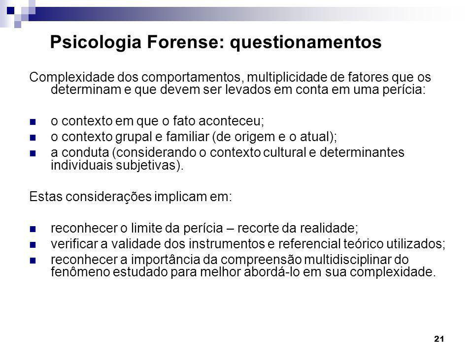 Psicologia Forense: questionamentos