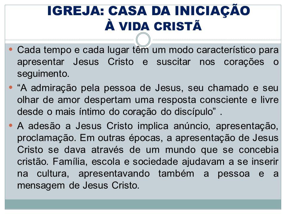 IGREJA: CASA DA INICIAÇÃO À VIDA CRISTÃ