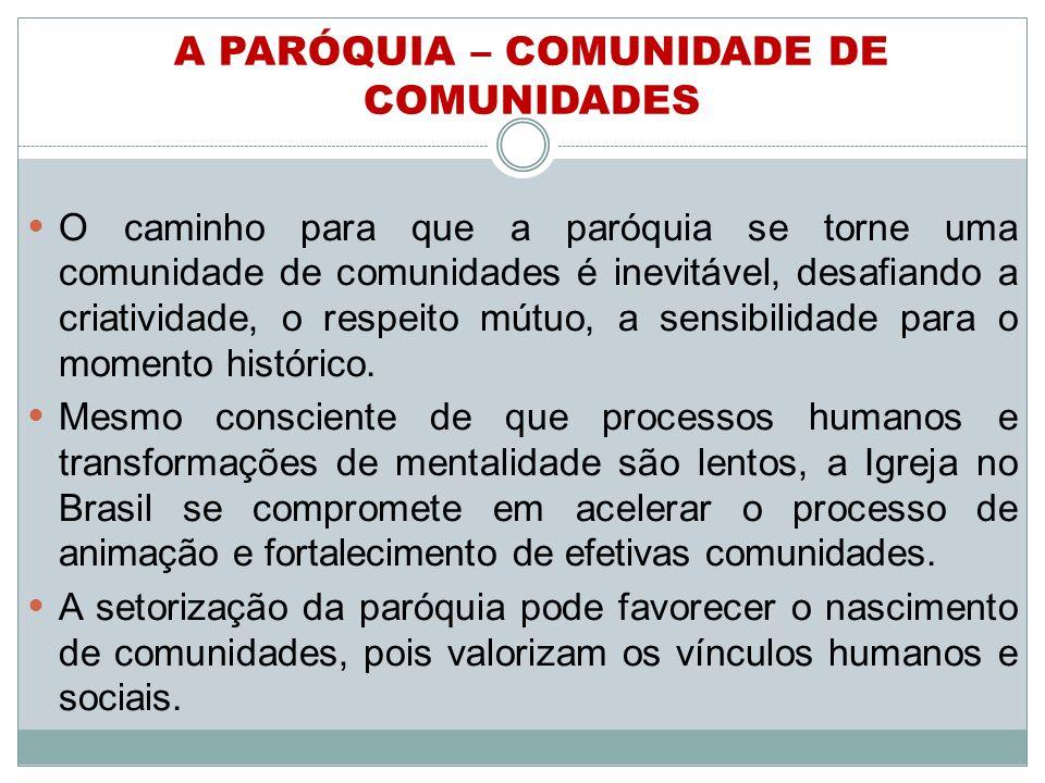 A PARÓQUIA – COMUNIDADE DE COMUNIDADES