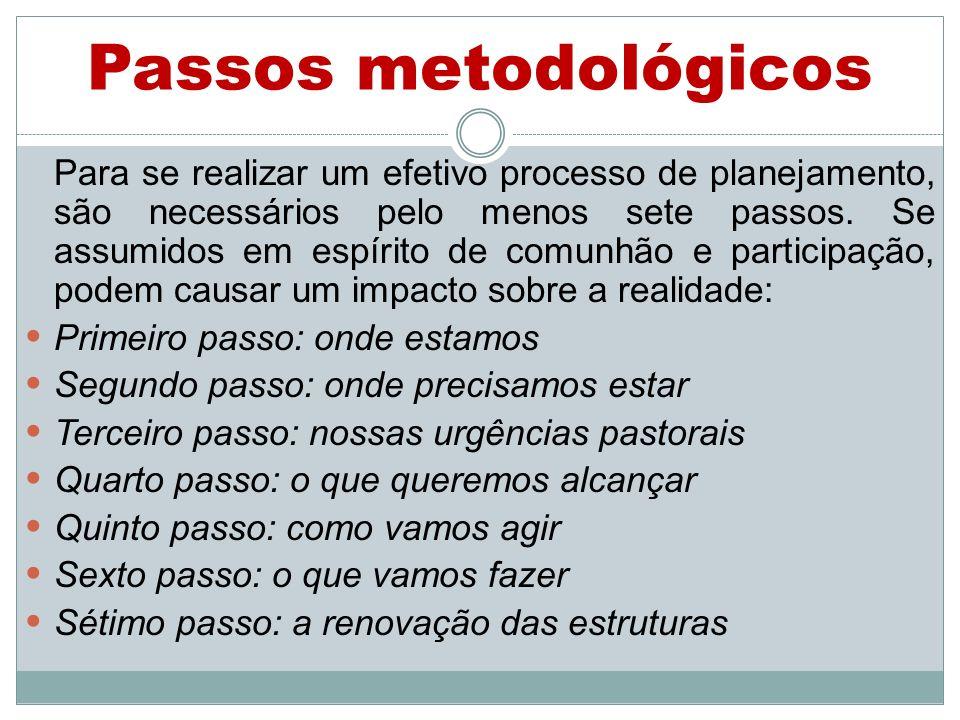Passos metodológicos