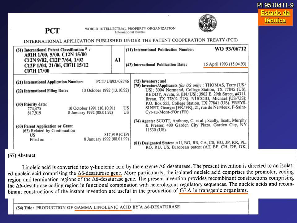 PI 9510411-9 Estado da técnica