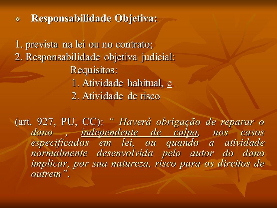 Responsabilidade Objetiva: