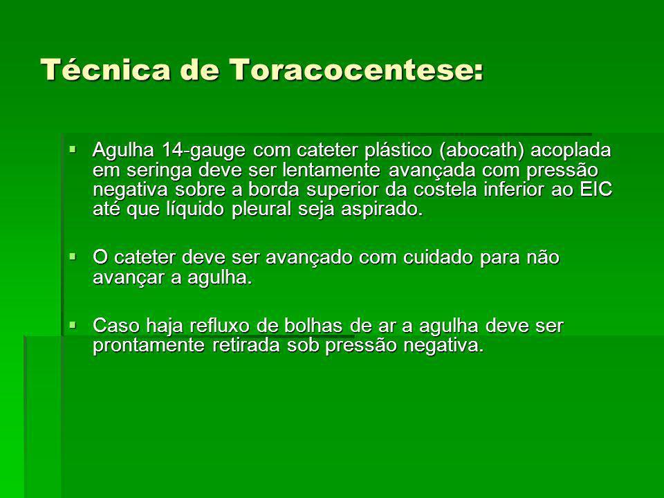 Técnica de Toracocentese: