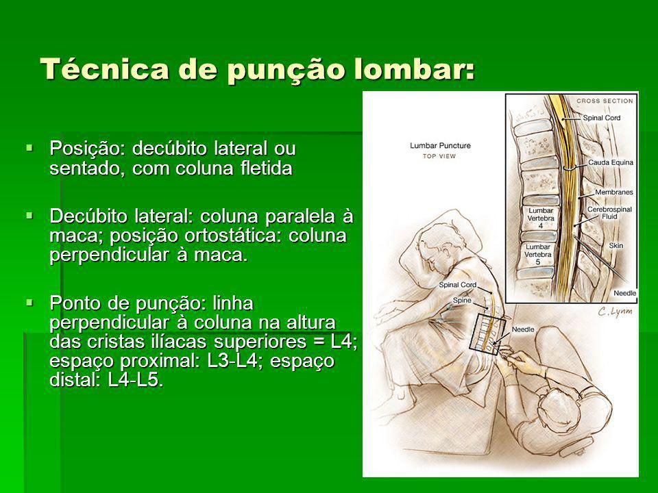 Técnica de punção lombar: