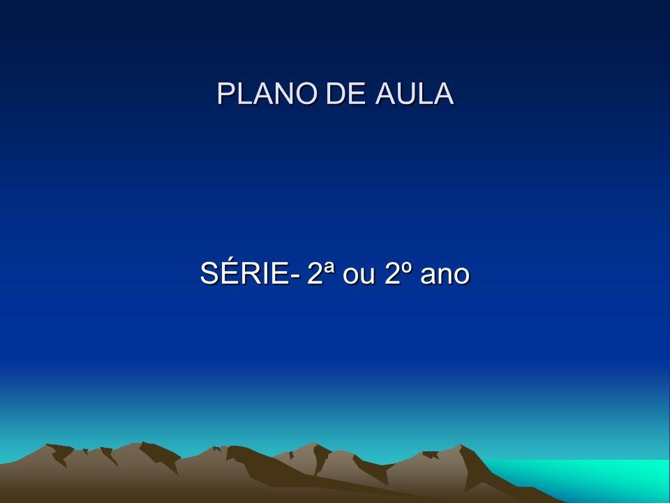 PLANO DE AULA SÉRIE- 2ª ou 2º ano
