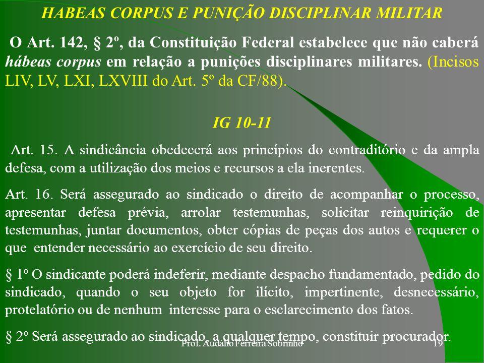 HABEAS CORPUS E PUNIÇÃO DISCIPLINAR MILITAR