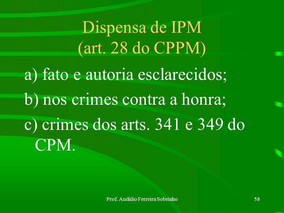 Dispensa de IPM (art. 28 do CPPM)