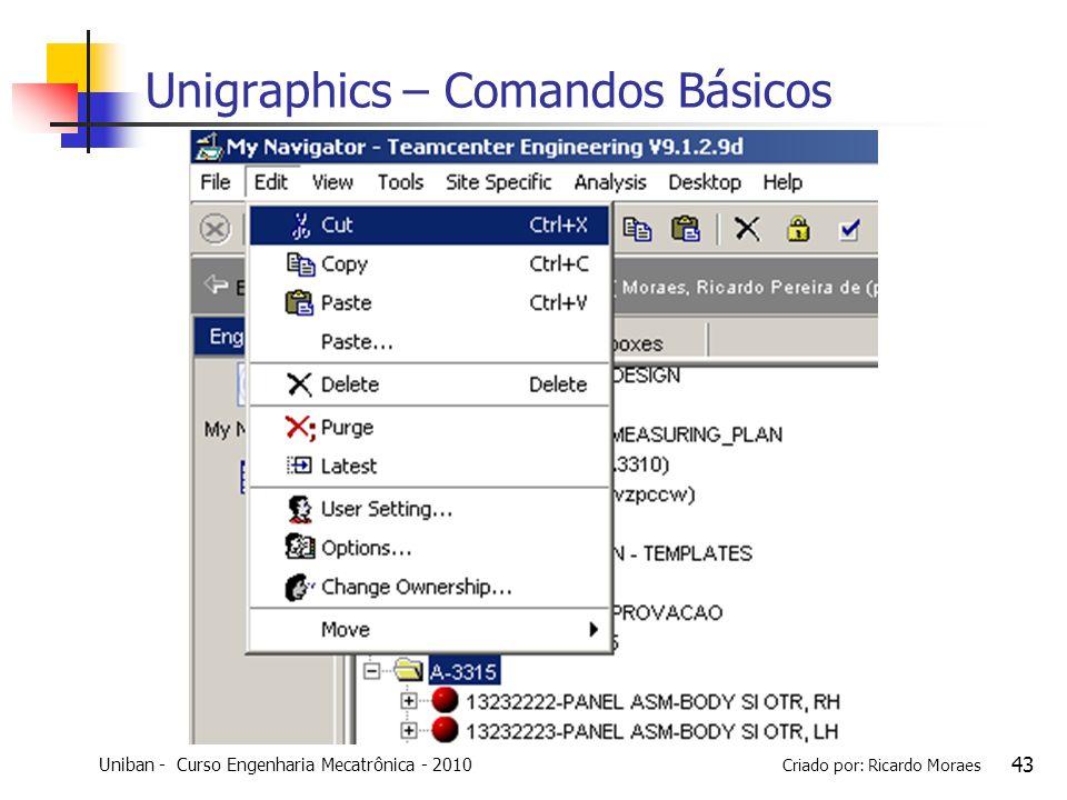 Unigraphics – Comandos Básicos