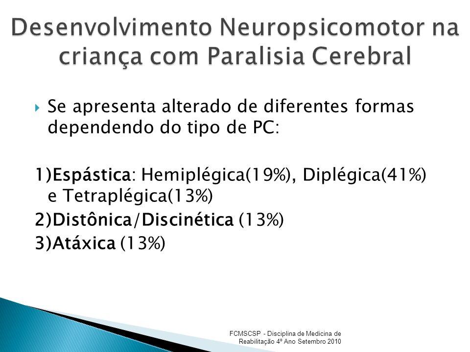 Desenvolvimento Neuropsicomotor na criança com Paralisia Cerebral