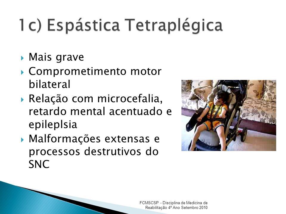 1c) Espástica Tetraplégica