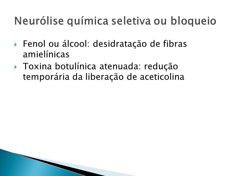 Neurólise química seletiva ou bloqueio