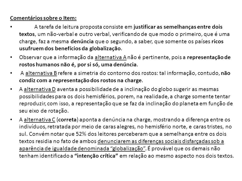 Comentários sobre o Item: